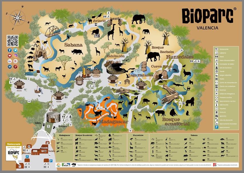 Plano de Bioparc Valencia