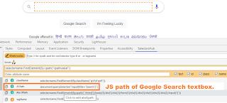 Get JS Path of Element using SelectorsHub