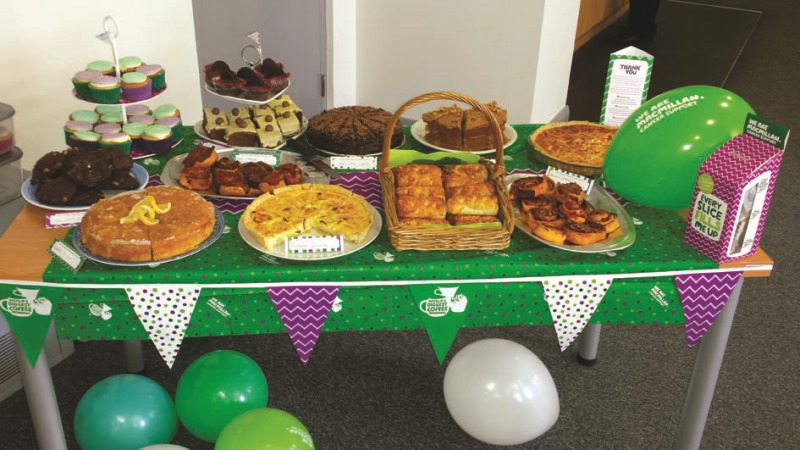 Cakes and savouries for Garador Macmillan Coffee Morning