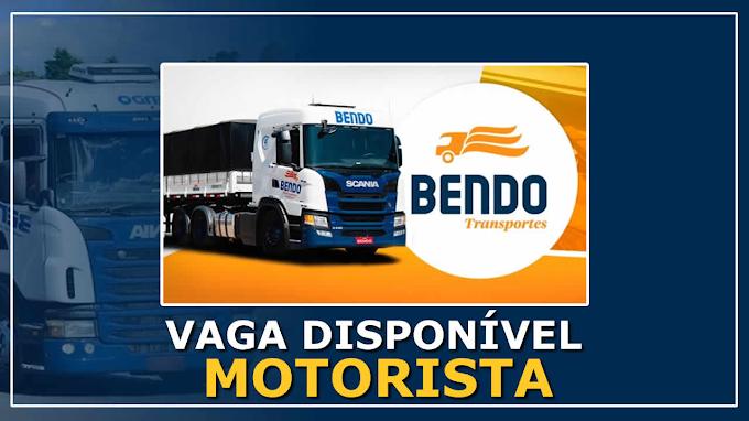 Transportadora Bendo abre vagas para motorista carreteiro