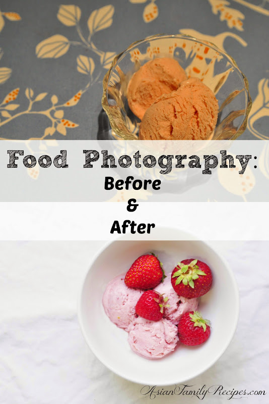 Food Photography before and after