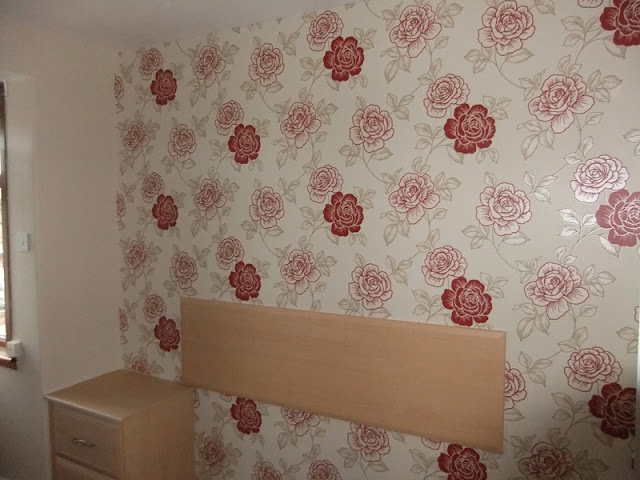 Feature wall as part of a bedroom re-decoration
