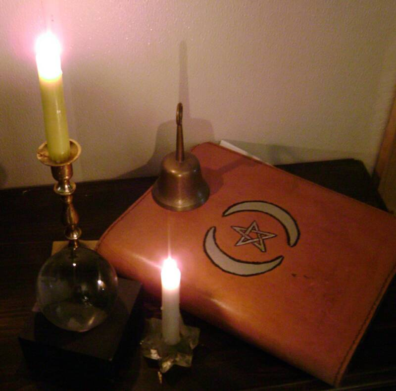 Bell Book And Candle Flame, Candle Magic