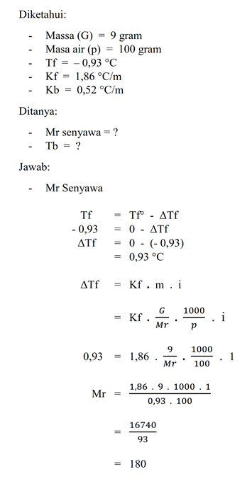 Contoh Soal Kimia Kelas 12 Dan Pembahasannya Barisan Contoh