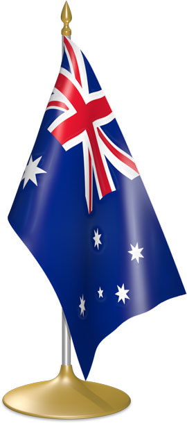 Australian table flags - desk flags