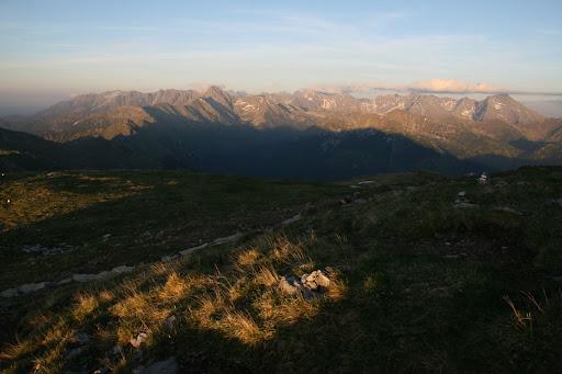 Panoráma Vysokých Tatier od Kresanice v Červených vrchoch