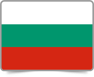 Bulgarian framed flag icons with box shadow
