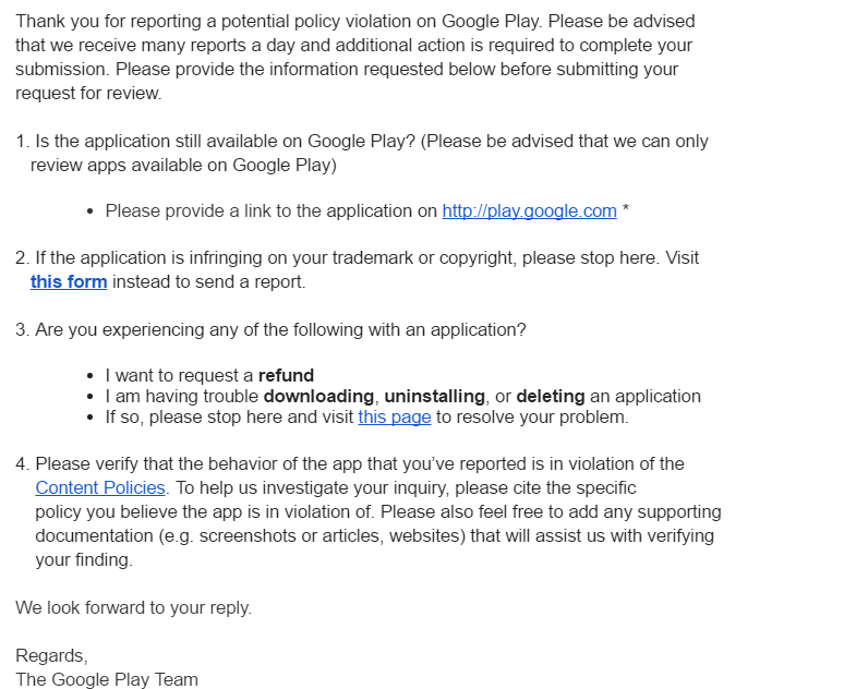 Is this ok? - Google Play Help