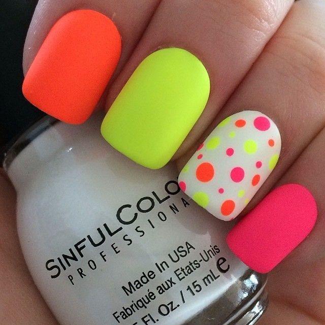 Cute Summer Bright Nail Designs 2015 Styles 7