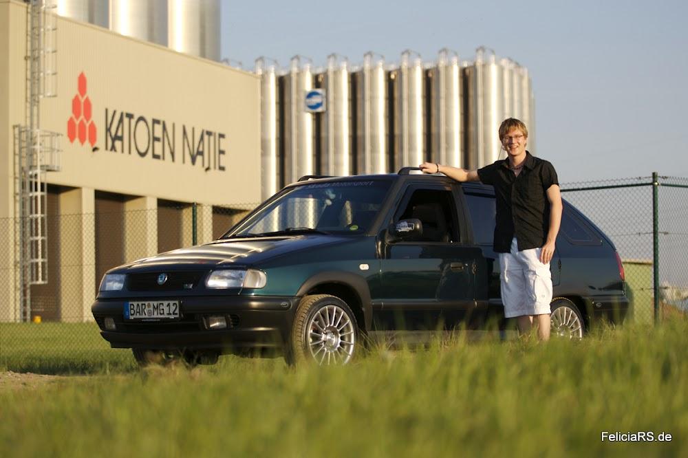 Mein erstes Auto: Škoda Felicia Combi Da sah er noch gut und ich auch noch Jünger aus ;-)