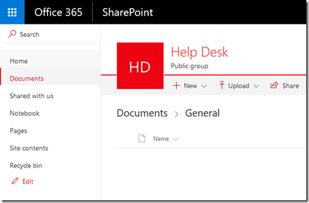 however when you create a microsoft team you also get a sharepoint team site unfortunately this also just has the same standard icon by default