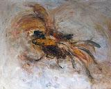 corbeille oiseau / huile toile / 50x60 / 1994