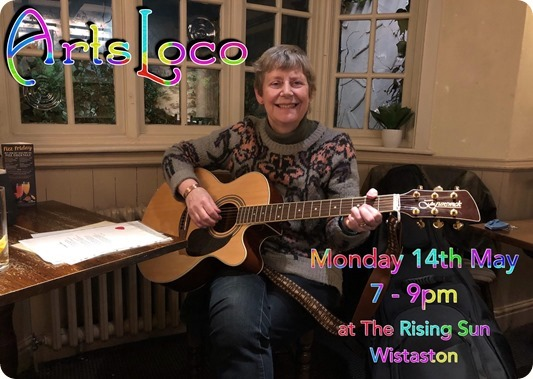 ArtsLoco - next event - Monday 14th  May 2018 - 7-9pm