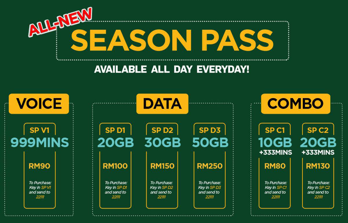 Pelan Internet ONEXOX SEASON PASS