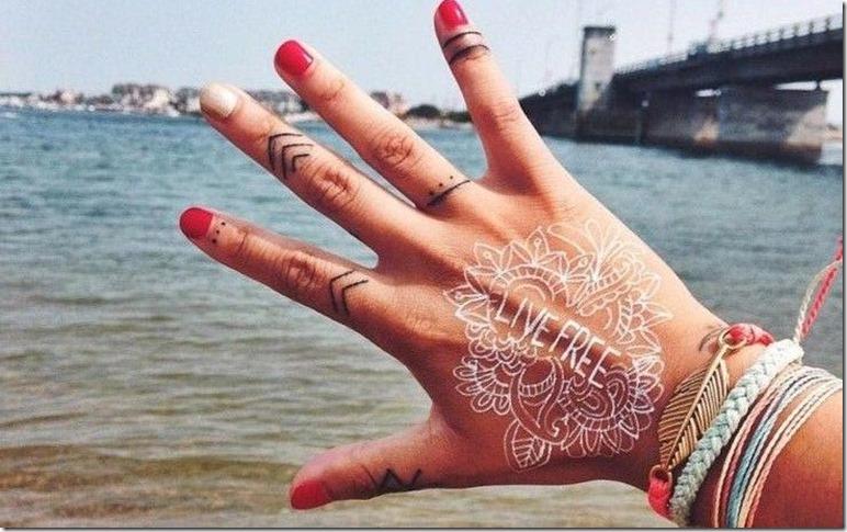boho tattoo henna