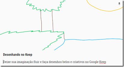 Desenhando no Google Keep