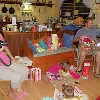 Celebrating Rachel's fourth birthday.