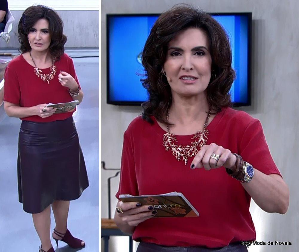 moda do programa Encontro - look da Fátima Bernardes dia 30 de julho