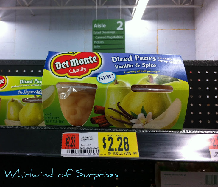 healthy pears snack