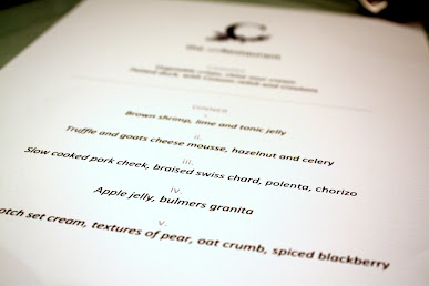 London Supper Club menu