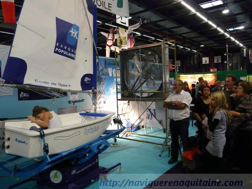 optimist voile simulateur debuter
