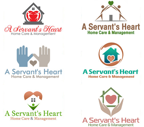 These home care logo designs were created for a servant 39 s for Healthy home designs