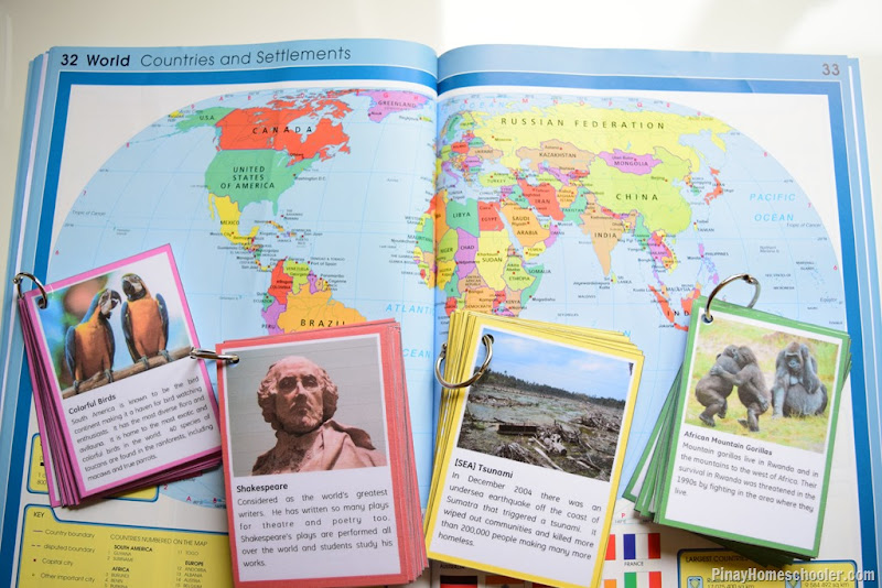 Continent Fact Cards Game