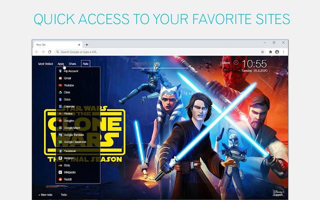 Star Wars The Clone Wars Wallpaper Hd Star Wars The Clone Wars New Tab Superhero News