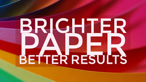 Brighter paper equals better results