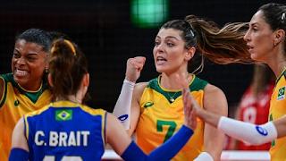 Brasil vira sobre a Rússia para ir à semifinal no vôlei