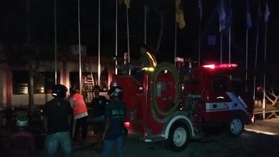 Kantor KPUD Barsel Terbakar