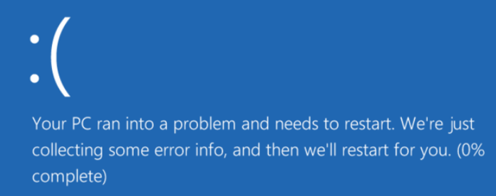 Is it safe to power off a computer while it has a blue screen issue?