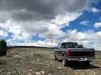 The road up Horse Creek Ridge