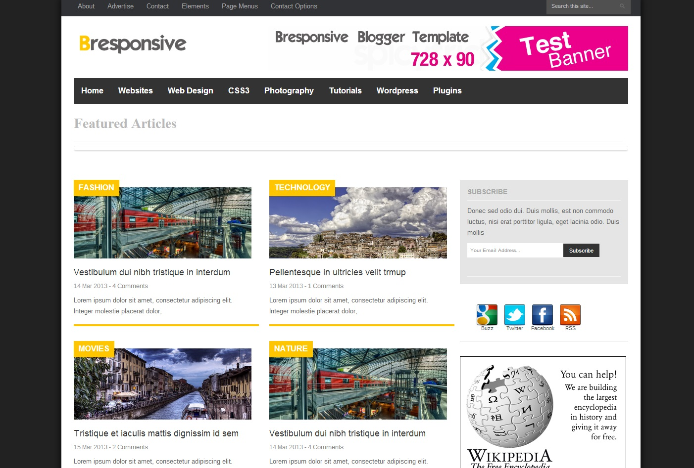 Bresponsive free blogger template download