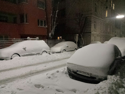Schneefahrbahn in Hietzing
