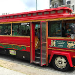 the Vancouver trolley company touring me around town in Vancouver, British Columbia, Canada