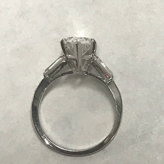 14K White Gold and Stone Ring