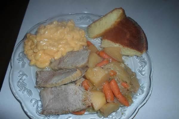 Cabbage, Potato, Loin Roast And Bacon