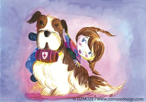Princess Disney and their Dog (Frozen Anna, Reine des neiges, Série)