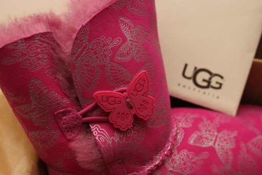 Pretty in pink with UGG's