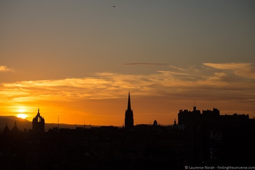 Edinburgh sunset from above