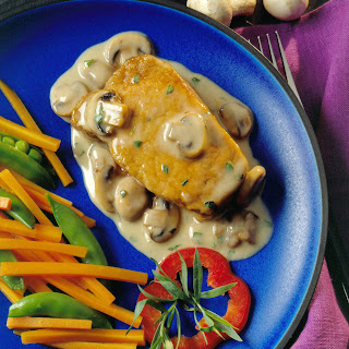Pork Chops and Mushroom Gravy.