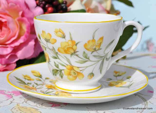 Royal Burlington Buttercup Pattern Teacup and Saucer