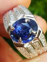 jual natural batu blue sapphire ceylon srilanka