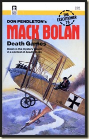 Mack Bolan #78 DEATH GAMES, cover by Gil Cohen