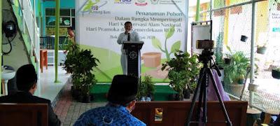 Camat Tambun Utara Bersama Yayasan Cendikia Tanam  1652 bibit pohon