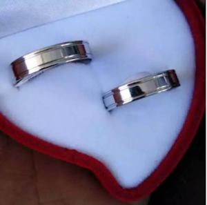 Cincin nikah titanium silver Pria Wanita cincin titanium CINCIN KAWIN TITANIUM
