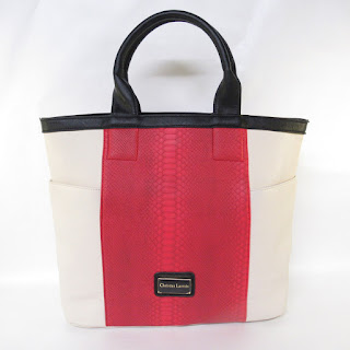 Christian Lacroix Red/White Shoulder Tote Bag
