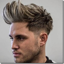 Low Taper Fade with Brush Up and Stubble Beard
