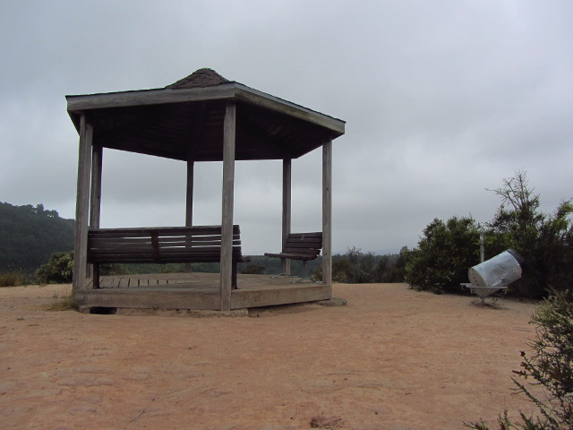 gazebo on the top of the hill